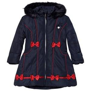Le Chic Girls Coats and jackets Navy Navy Faux Fur Hooded Jacket