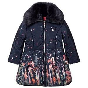 Le Chic Girls Coats and jackets Navy Flower Print Long-Line Jacket Navy