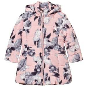Le Chic Girls Coats and jackets Pink Flower Print Long-Line Jacket Soft Pink