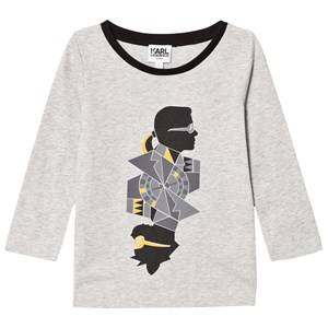 Karl Lagerfeld Kids Boys Tops Grey Grey Karl Bad Cat Print Tee