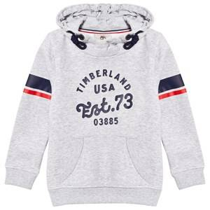 Timberland Boys Jumpers and knitwear Grey Grey Marl Branded Print Hoodie