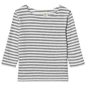 Gray Label Unisex Tops Grey Long Sleeve Striped Tee Grey Melange/White Stripes