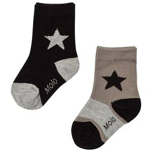 Molo Boys Underwear Grey Nitis 2-Pack Socks Rock Ridge