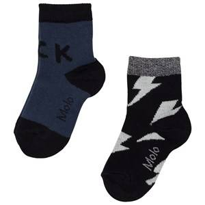 Molo Boys Underwear Blue Nox 2-Pack Socks Deep Blue