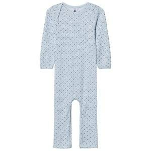 Petit Bateau Boys Childrens Clothes All in ones Blue Blue Star Footless Baby Body