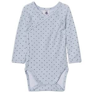 Petit Bateau Boys Childrens Clothes All in ones Blue Blue Star Wrap Baby Body