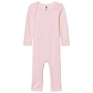 Petit Bateau Girls Childrens Clothes All in ones Pink Pink Dot One-Piece