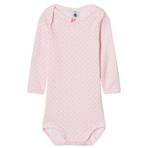Petit Bateau Girls Childrens Clothes All in ones Pink Pink Dot Baby Body