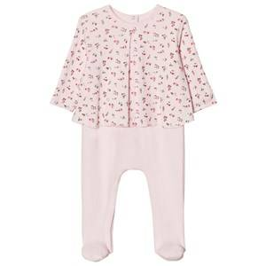 Petit Bateau Girls All in ones Pink Vienne Pink Footed Baby Body