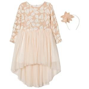 Billieblush Girls Dresses Pink Pale Pink Sequin Tulle Dress