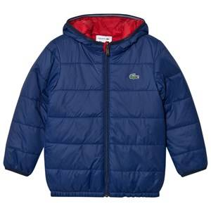 Lacoste Boys Coats and jackets Navy Navy and Red Reversible Hooded Puffer Jacket