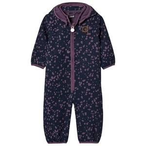 Hummel Girls Coveralls Navy Shan Suit Coverall Purple Dots