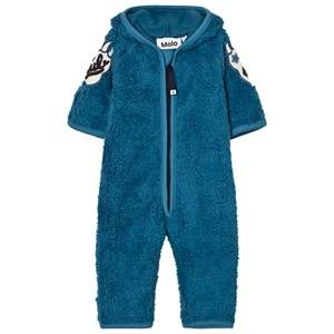 Molo Unisex Fleeces Blue Unity Fleece Onesie Latitude