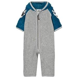 Molo Unisex Fleeces Blue Uny Fleece Onesie Latitude