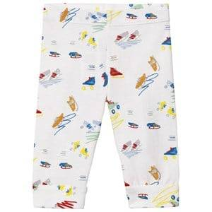Stella McCartney Kids Girls Bottoms Grey Grey Scribble and Skate Print Leggings