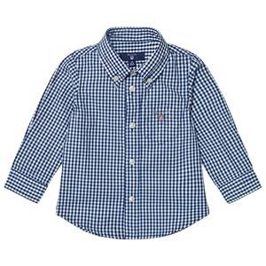 Gant Boys Tops Navy Navy Classic Gingham Oxford Shirt