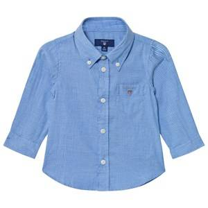Gant Boys Tops Blue Blue Oxford Stripe Shirt