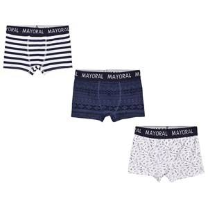 Mayoral Boys Underwear Navy Set of 3 Navy Striped and Printed Boxers