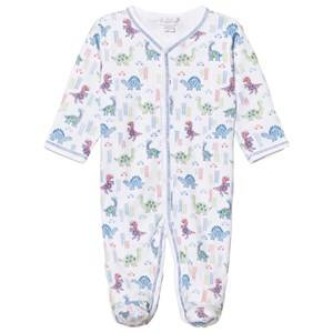 Kissy Kissy Boys All in ones White White Downtown Dinosaur Print Footed Baby Body