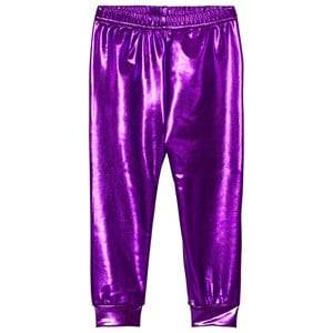Gardner and the gang Girls Bottoms Purple Metallic Leggings Purple