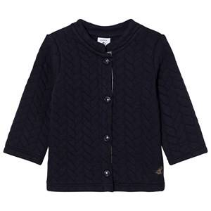Petit Bateau Unisex Jumpers and knitwear Blue Marine Quilted Cardigan