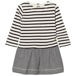 Petit Bateau Girls Dresses White Marine Stripe Dress