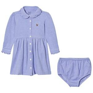 Ralph Lauren Girls Dresses Blue Blue Knit Shirt Dress