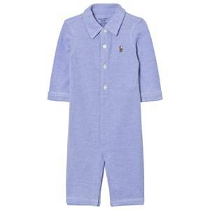 Ralph Lauren Boys All in ones Blue Knit Oxford One-piece Blue