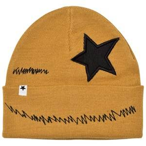 Molo Unisex Headwear Black Kiddy Hat Yellow Rock