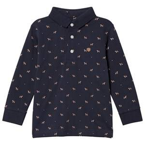 Mayoral Boys Tops Navy Navy Puppies Print Polo