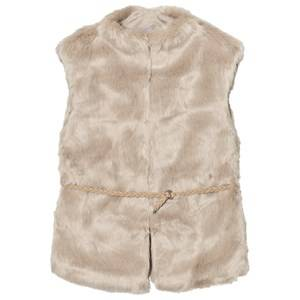 Mayoral Girls Coats and jackets Beige Beige Faux Fur Gilet