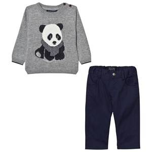 Mayoral Boys Clothing sets Grey Grey Panda Jumper and Trousers Set