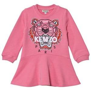 Kenzo Girls Dresses Pink Pink Embroidered Tiger Sweat Dress