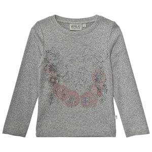 Wheat Girls Tops Grey Rabbit Long Sleeve Tee Melange Grey