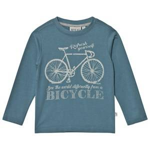 Wheat Unisex Tops Blue Bicycle Long Sleeve Tee Bluestone