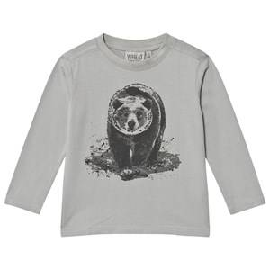 Wheat Unisex Tops Blue Bear Long Sleeve Tee Dusty Dove