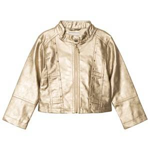 Mayoral Girls Coats and jackets Beige Champagne Studded Pleather Jacket