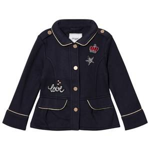 Mayoral Girls Coats and jackets Navy Navy Jersey Badge Applique Fleece Jacket