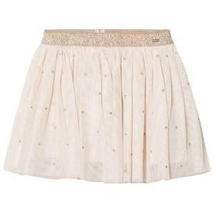 Mayoral Girls Skirts Beige Beige Star Print Skirt
