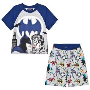 Fabric Flavours Boys Nightwear Grey Grey/Blue Batman Joker Pyjamas