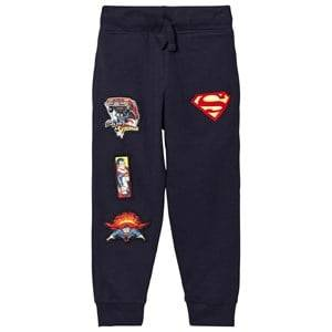 Fabric Flavours Boys Bottoms Navy Navy Superman Interchangeable Badge Sweatpants