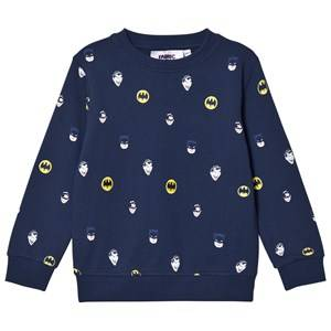 Fabric Flavours Boys Jumpers and knitwear Navy Navy Batman Face Print Sweatshirt