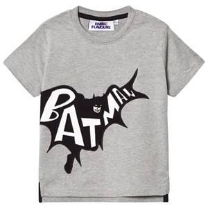 Fabric Flavours Boys Tops Grey Grey Batman Applique Tee