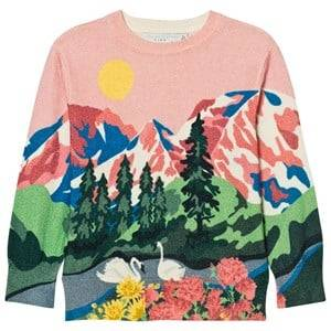 Stella McCartney Kids Girls Jumpers and knitwear Pink Pink Cassius Mountain Jumper