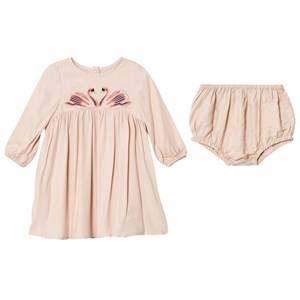 Stella McCartney Kids Girls Dresses Pink Pink Swan Print Leonilla Dress