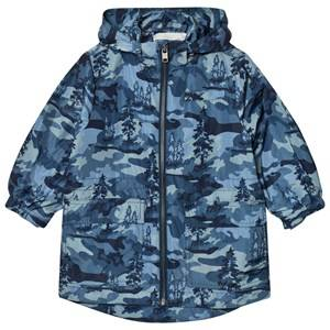 Stella McCartney Kids Boys Coats and jackets Blue Blue Beck Landscape Camo Parka