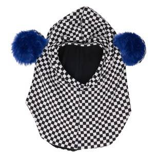 BANG BANG Copenhagen Girls Headwear Grey Black/White Check Teddy Ear Balaclava
