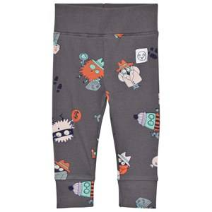 Indikidual Boys Bottoms Black Dark Grey Detective Leggings