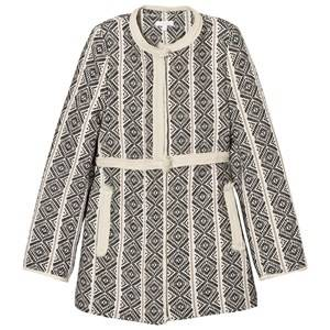 Chloé Girls Coats and jackets Black Black/White Jacquard Coat