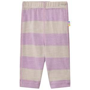 Joha Unisex Bottoms Purple Wide Stripe Leggings Purple